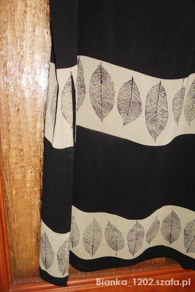 Spódnice spódnica czarna z motywem