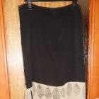 spódnica czarna z motywem