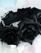 Restyle Black Roses gotycka opaska z różami