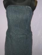 Jeansowa sukienka na ramiączkach 40