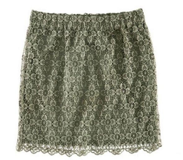 Spódnice nowa H&M koronkowa khaki zielna militarna spódnicz
