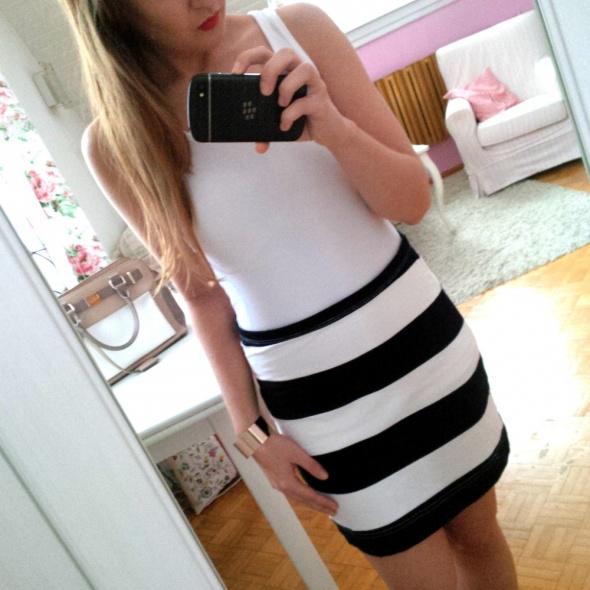 Spódnice Bandażowa spódnica w paski H&M pasy M