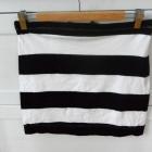Bandażowa spódnica w paski H&M pasy M