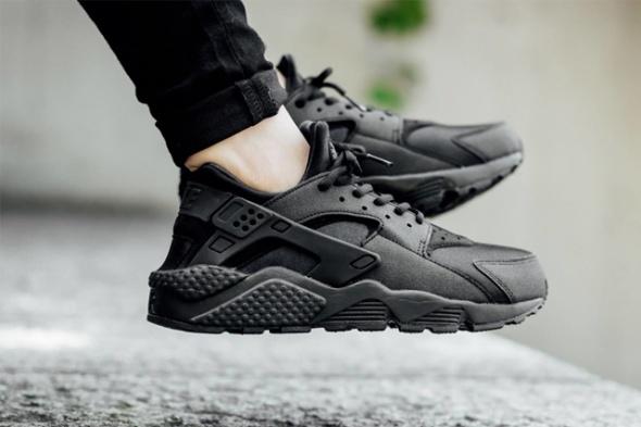 zniżka wysoka jakość buty jesienne nike huarache air force black air max czarne w Sportowe ...