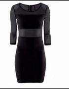 Sukienka H&M wstawki z mgiełki