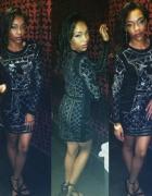 Przepiękna sukienka siwiec doda dzety ćwieki cekin