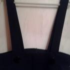 czarna dluga spodnica na szelki