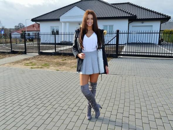 3a32cbd62722b szare kozaki za kolano w Blogerek - Szafa.pl