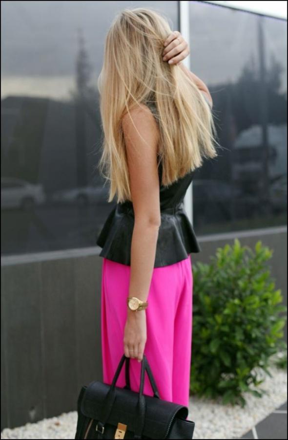 Eleganckie spodnie fuksja...