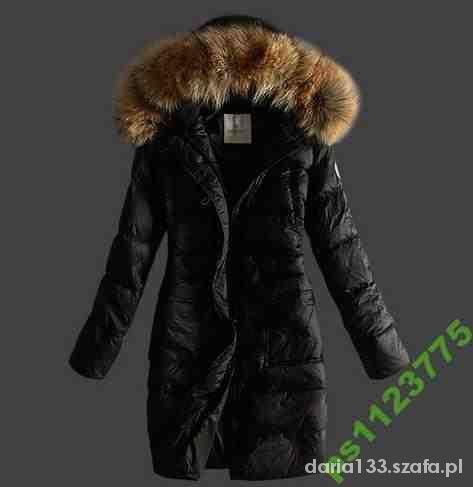 Moncler Fur czarne