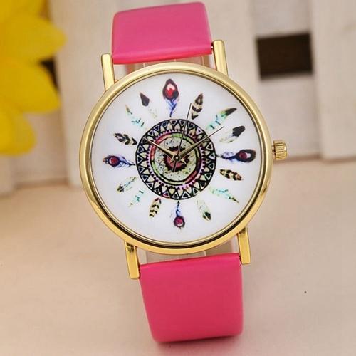 rózowy zegarek