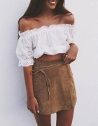 suede skirt...