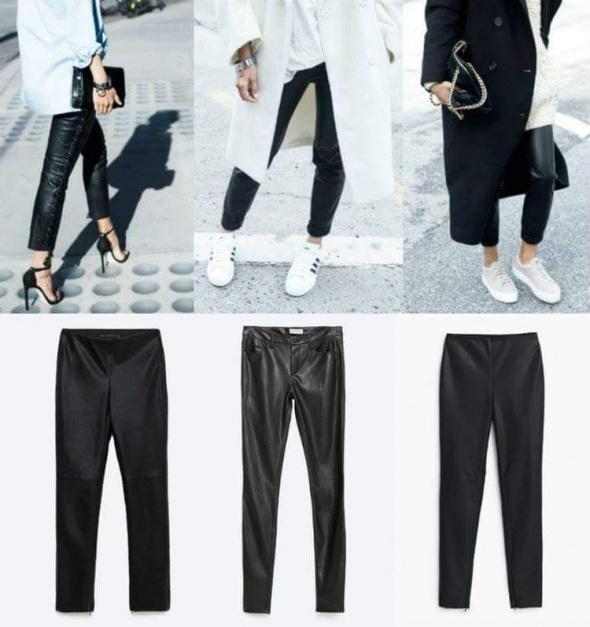 Eleganckie Skorzane spodnie