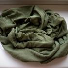 Zielona khaki apaszka chusta komin