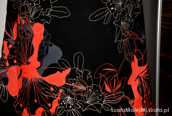 Spódnice Spódnica VILA czarny makowy trapezowa S