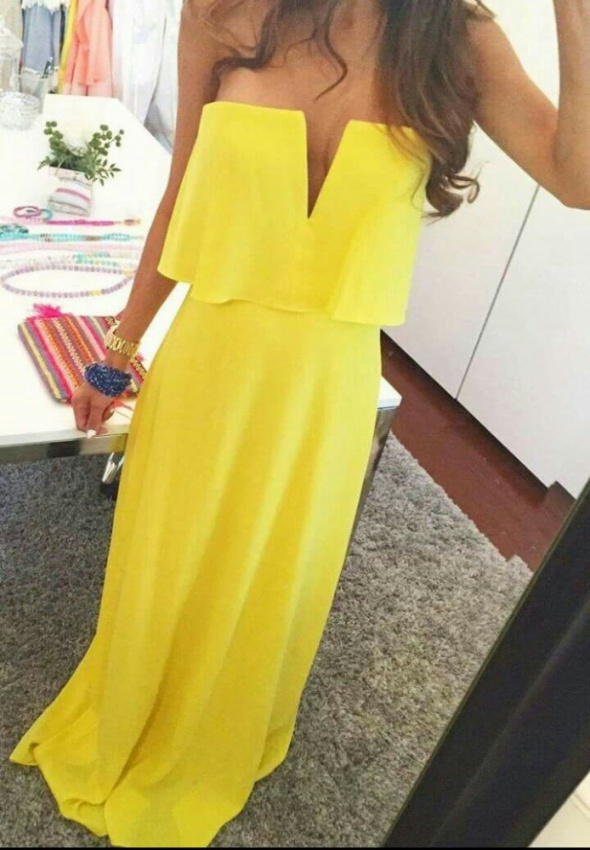 Canary yellow spring dress