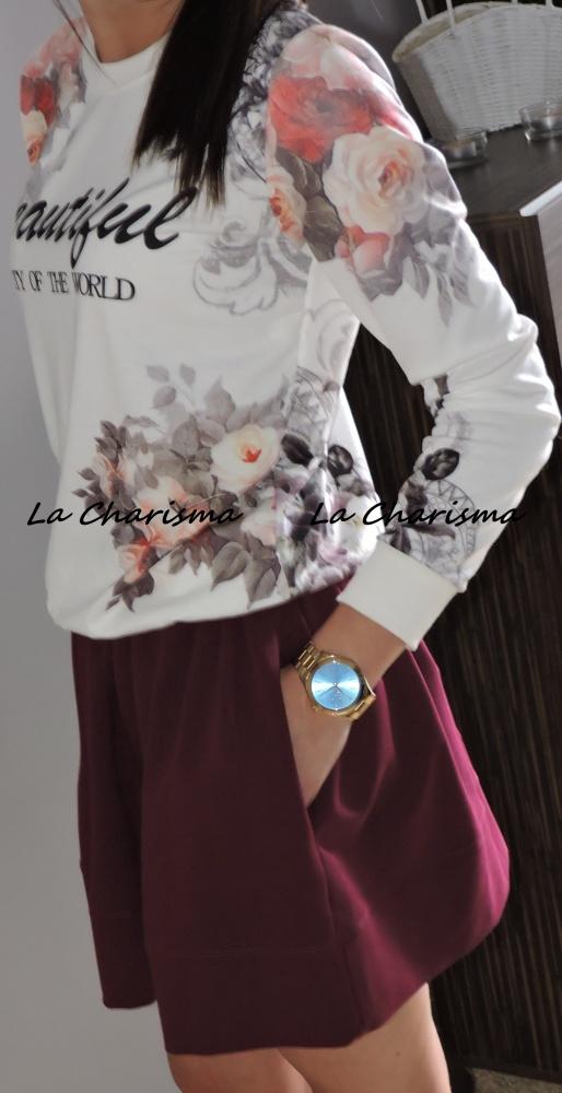 Codzienne Bluza print floral