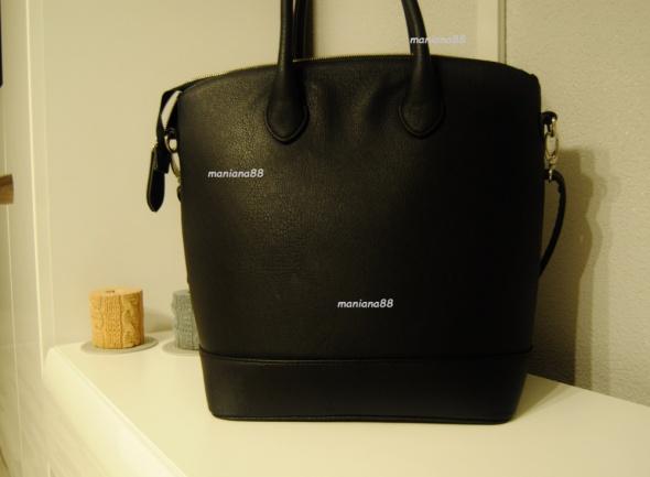 502d0b555d855 Torba Shopper Bag RESERVED Czarna ZIP Pasek w Torebki na co dzień ...