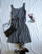 szara sukienka h&m 36