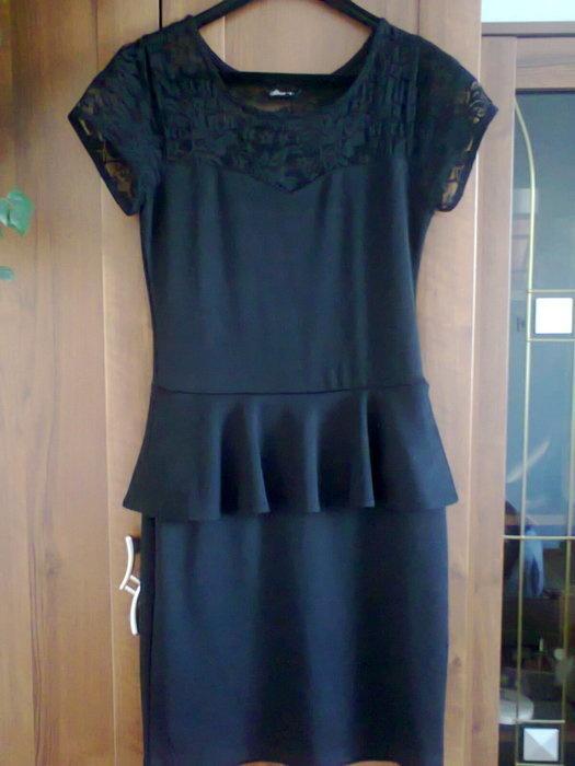 ccbf0536ad Czarna sukienka z baskinką House 38 w Suknie i sukienki - Szafa.pl