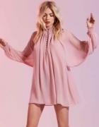bluzka sukienka pastelowa w stylu retro
