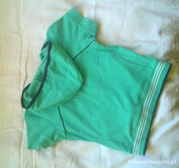 bluza adidas z krótkim rękawem turkusowa