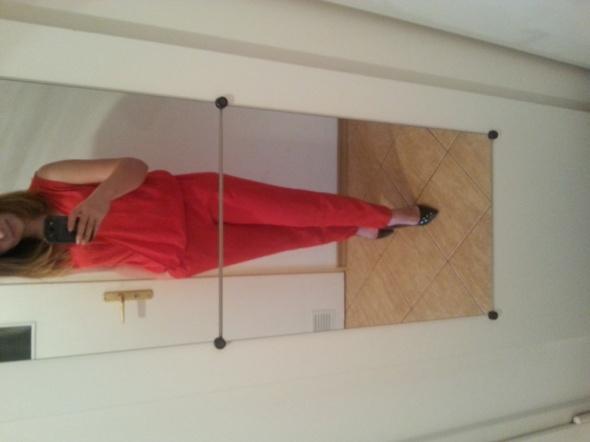 Mój styl czerwony kombinezon mohito