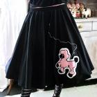 Czarna pin up lolita z pudelkiem