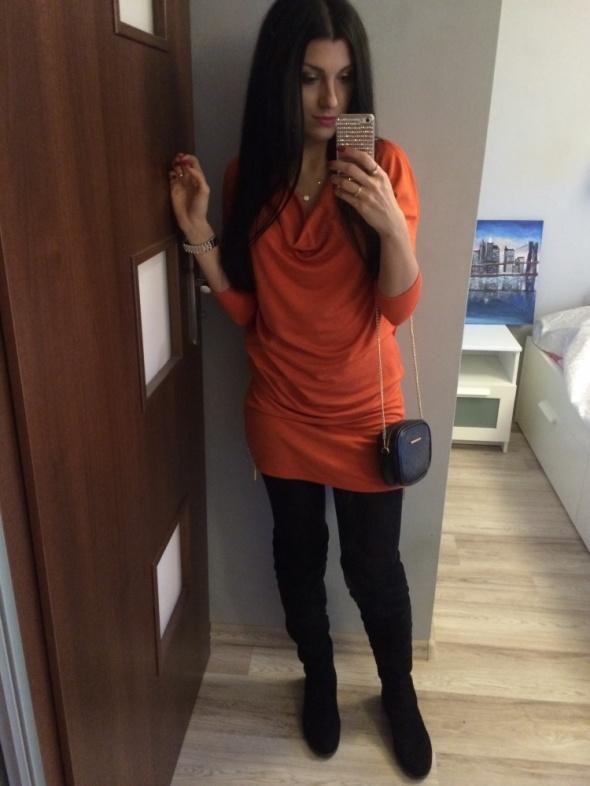 Na specjalne okazje Pomarańczowa sukienka MOHITO