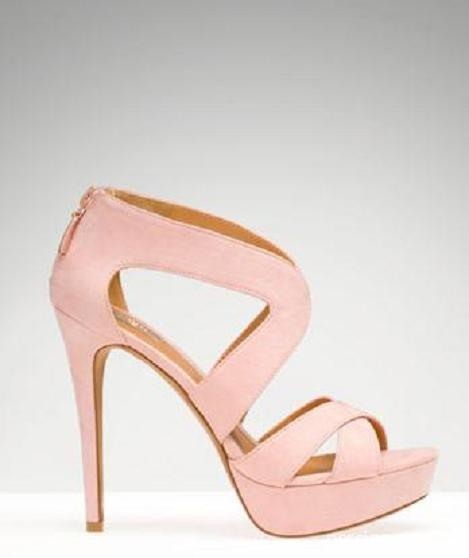 Obuwie sandały platformy pudrowy róż Stradivarius 36