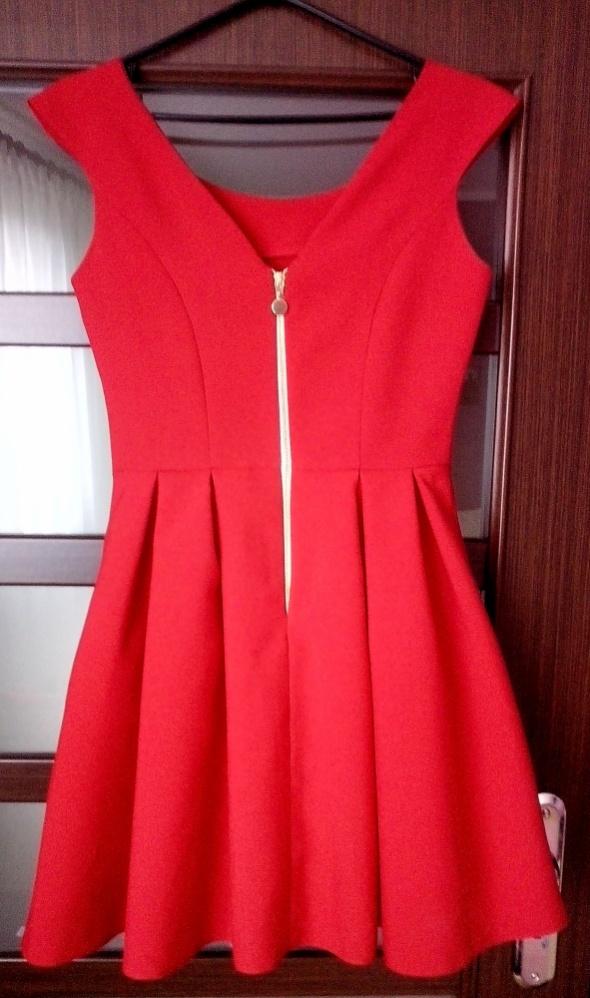 0062432e Czerwona sukienka wesele studniówka sylwester w Suknie i sukienki ...