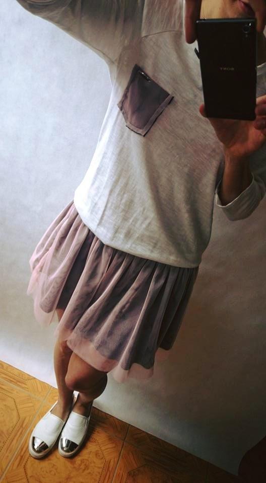 Codzienne Sukienka dresowa z tiulem