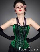 Gorset Green Lace Papercats...