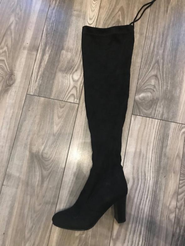 muszkieterki za kolano kozaki 39 nowe czarne