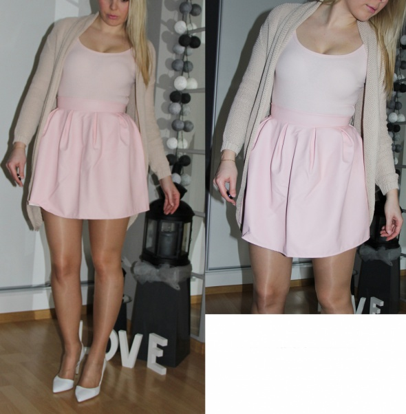Blogerek spódniczka różowa
