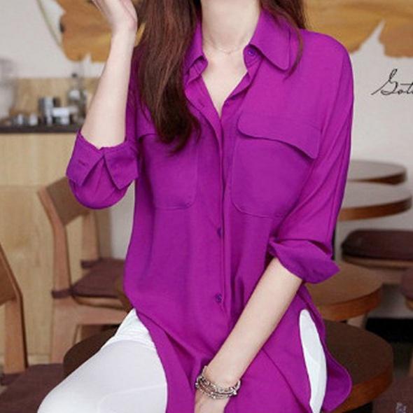 Fioletowa koszula mgiełka