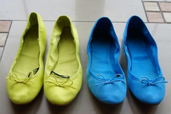 Balerinki kolorowe baletki baleriny hm 38