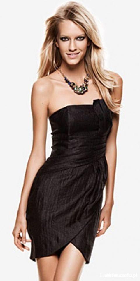 512f284d11 HM czarna sukienka gorsetowa by night w Suknie i sukienki - Szafa.pl
