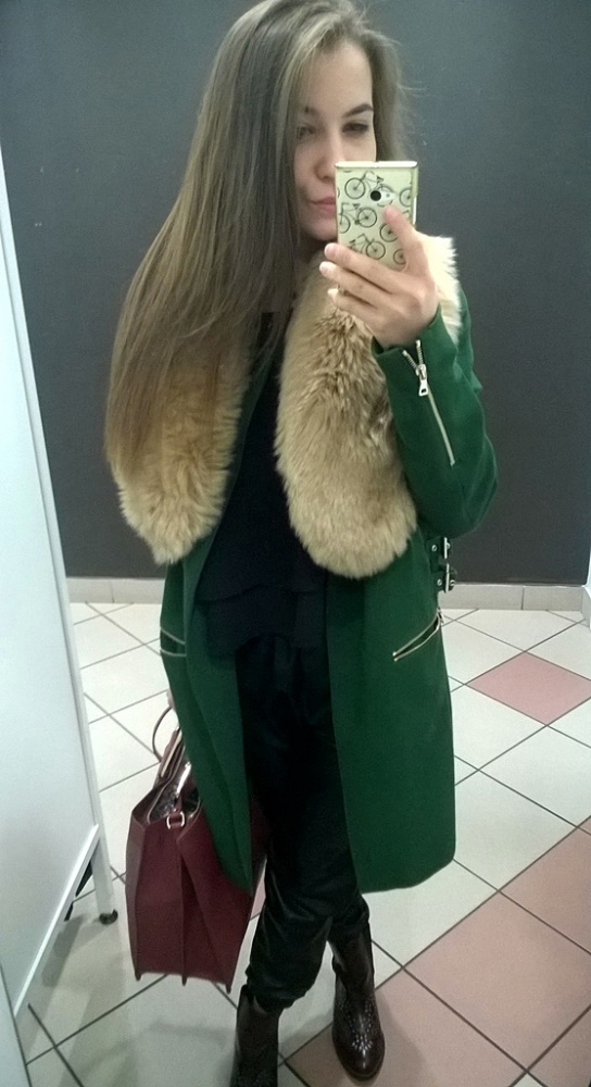 Do pracy Green Coat
