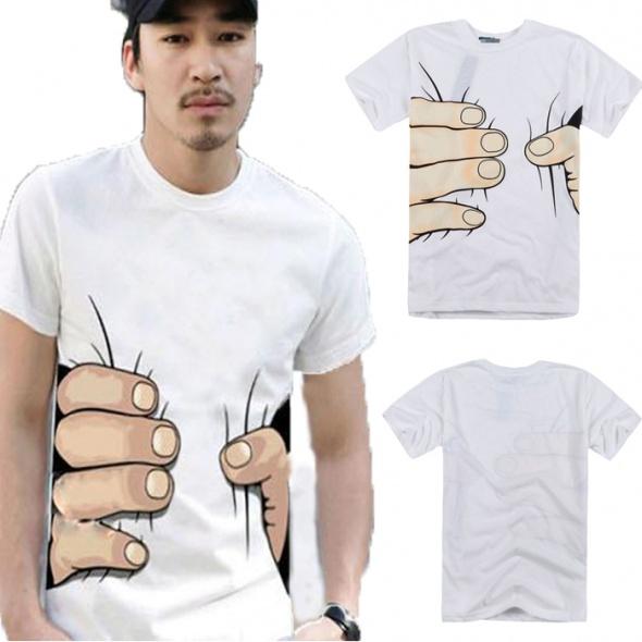 Męski tshirt z ręką