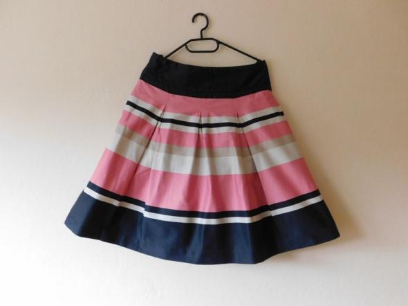 Spódnice H&M rozkloszowana spódnica plisowana w pasy 38