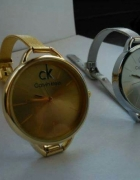 ck calvin klein zloty zegarek z logo hit