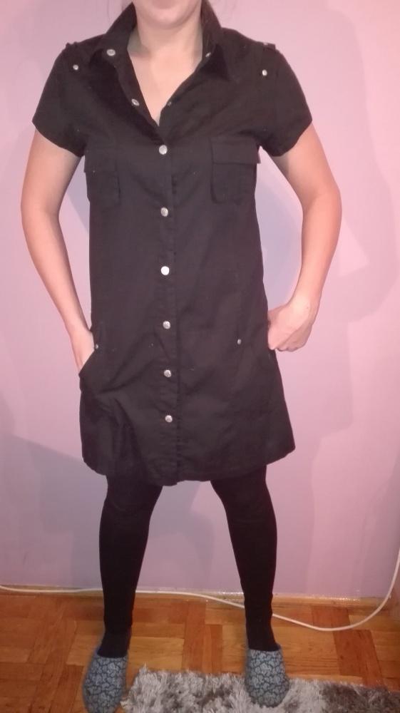 80c461f34f Czarna Sukienka zapinana na napy Wyprzedaż w Suknie i sukienki ...