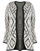 NOWA narzutka sweterkowa w symetryczne wzory