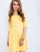 Rozkloszowana sukienka z dekoltem V