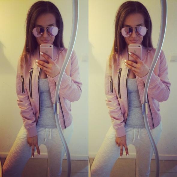Mój styl pink bomber jacket