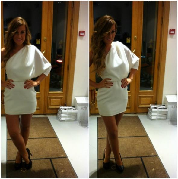Imprezowe Asymetryczna sukienka Asos by aqua ekskluzywna