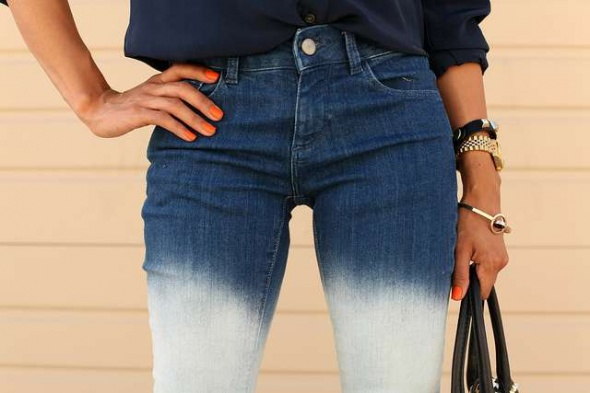 Ubrania spodnie jeans Ombre