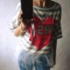 Bluzeczka z białym tiulem i rurki