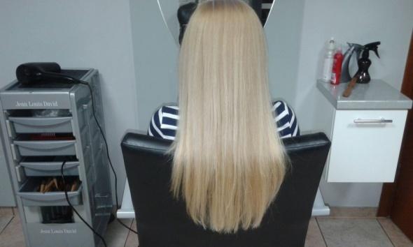 moje włosy po Pantene...
